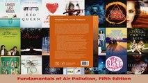 Read  Fundamentals of Air Pollution Fifth Edition Ebook Free