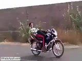 Desi Indian Boys Dangerous Stunt Fail - Bike Stunt Gone Wrong(whatsapp9.com)
