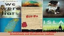 Read  The Wisdom of Sun Ra Sun Ras Polemical Broadsheets and Streetcorner Leaflets Ebook Free