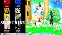 Peach VS Sheik 2 - Super Smash Bros 4