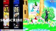 Peach VS Sheik 2 - Super Smash Bros 4