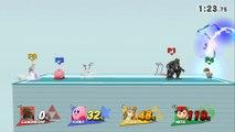 Ganondorf VS Kirby VS Zelda VS Ness - Super Smash Bros 4