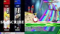 Peach VS Sheik - Super Smash Bros 4