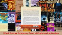 PDF Download  Wind Energy Systems Control Engineering Design Download Full Ebook