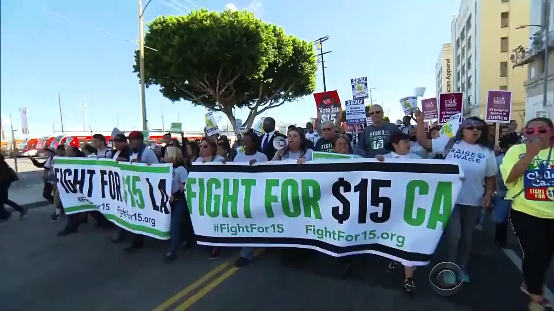 Minimum wage protests take place across the country