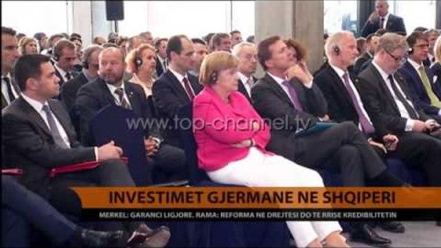 Investimet gjermane në Shqipëri. Merkel: Garanci ligjore - Top Channel Albania - News - Lajme