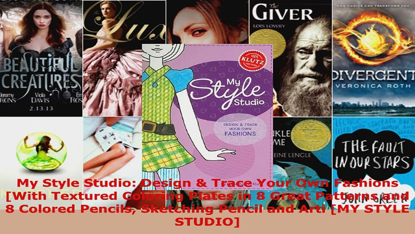 Read My Style Studio Design Trace Your Own Fashions With Textured Coloring Plates In 8 Pdf Free Video Dailymotion
