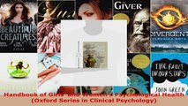 Read  Handbook of Girls and Womens Psychological Health Oxford Series in Clinical Psychology Ebook Free