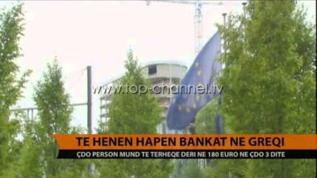 Bankat greke hapen të hënën, zhduken radhët e njerëzve - Top Channel Albania - News - Lajme
