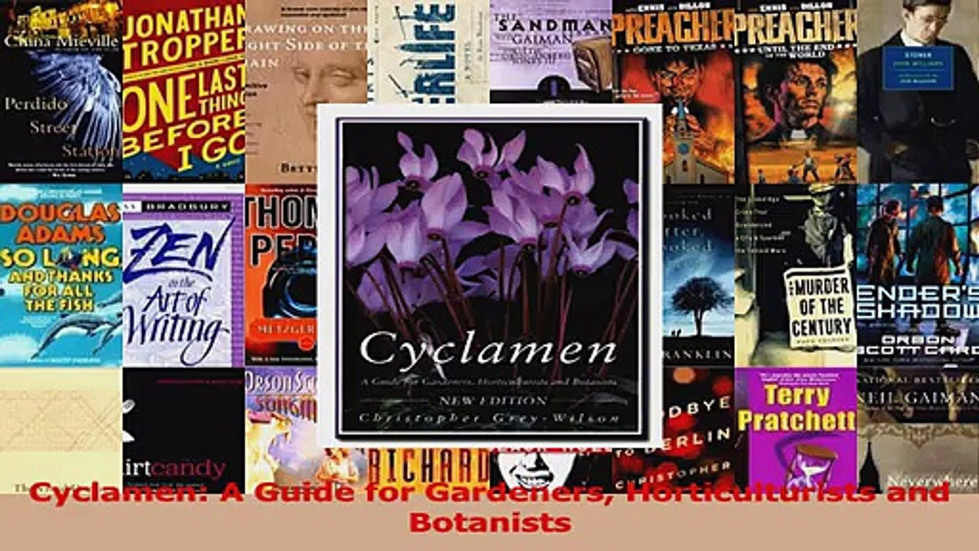 PDF Download  Cyclamen A Guide for Gardeners Horticulturists and Botanists PDF Full Ebook