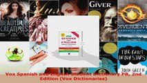 Download  Vox Spanish and English Student Dictionary PB 2nd Edition Vox Dictionaries PDF Free