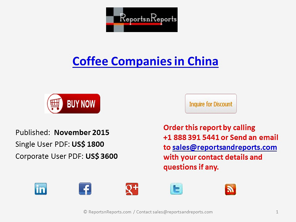 Coffee Companies in China