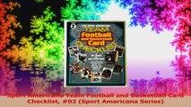Sport Americana Team Football and Basketball Card Checklist 02 Sport Americana Series Read Online