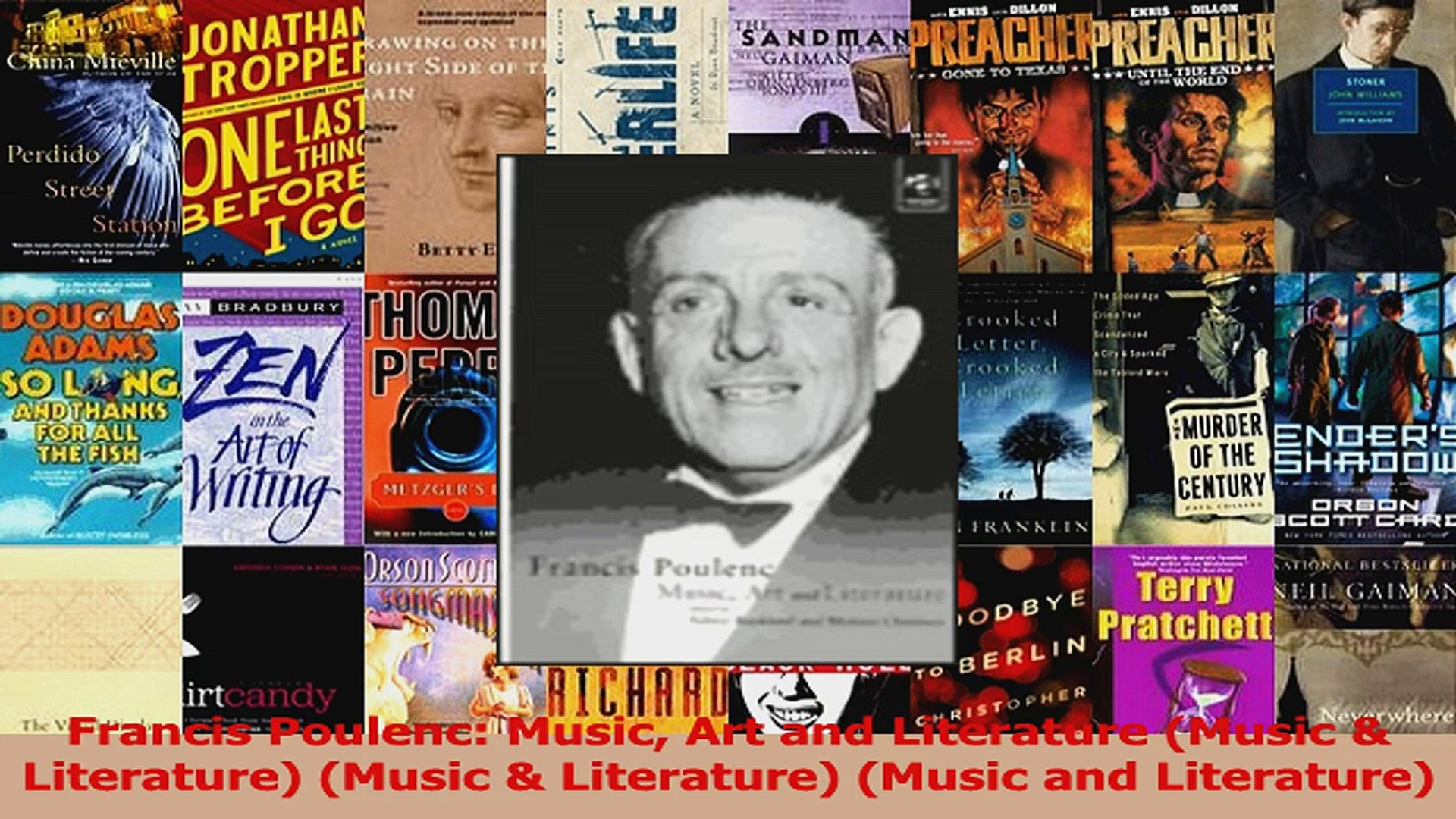 Download  Francis Poulenc Music Art and Literature Music  Literature Music  Literature Music PDF Onl