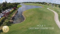 The First Hole at Lago Mar Country Club Golf Course