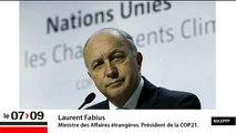 """Laurent Fabius : """"On a évité la catastrophe des 4 ou 5 degrés, mais il est indispensable d'arriver à 2 degrés"""""""