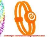 Bioflow Sport Twin Wristband Orange/White (S 17.5cm)