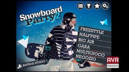 Snowboard Party 2 il gioco per iOS e Android Gameplay - AVRMagazine.com (720p)