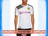 Puma Men's Replica Football Jersey with Sponsor's Logo BVB (Borussia Dortmund) Third Kit white-dark