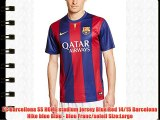 FC Barcellona SS HOME stadium jersey Blue Red 14/15 Barcelona Nike blue Blau - Bleu Franc/soleil