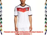 adidas Men's Jersey Home DFB WM 2014 White White / Black / Victory Red / Matte Silver Size:M