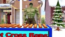 Hulk Hot Cross Buns Children Nursery Rhymes   Hulk 3D Animation Cartoon Hot Cross Buns