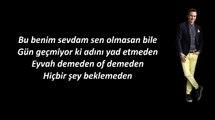 Mustafa Ceceli Islak İmza  karaoke lyrics