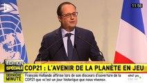 """François Hollande évoque un jour """"historique"""" lors de l'ouverture de la COP21"""
