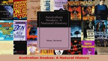 PDF Download  Australian Snakes A Natural History Read Online
