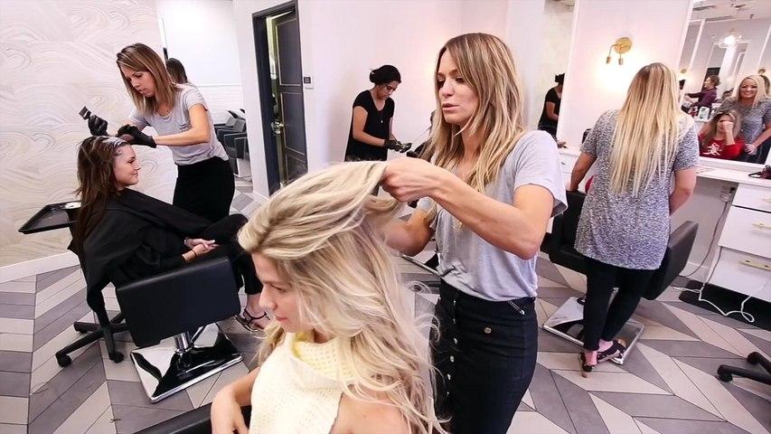 Chrissy double braid hair style