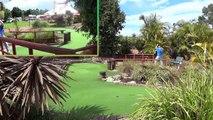 Mini Golf Trick Shots Sitting on a fence, a crazy golf video.