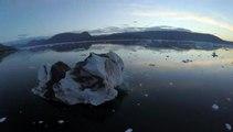 La fonte des glaciers du Grand Nord filmée par un drone