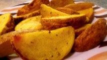 PAPAS FRITAS EN GAJO - Recetas de cocina faciles y rapidas y economicas de hacer - Comidas ricas