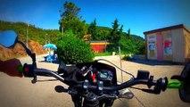 GoPro : Balade sur route sinueuse en Derbi DRD X-Trem 50cc