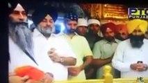 Sukhbir Badal and Harsimrat Kaur Badal Entering Darbar Sahib