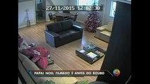 SP: Papai Noel que roubou helicóptero é flagrado por câmeras de segurança