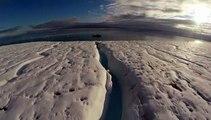 Images époustouflantes d'un drône qui filme la fonte des glaciers dans le Grand Nord