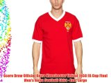 Score Draw Official Retro Manchester United 1958 FA Cup Final Men's Retro Football Shirt -