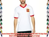 Score Draw Official Retro Manchester United 1957 FA Cup Final Men's Retro Football Shirt -