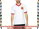 Score Draw Official Retro Manchester United 1957 FA Cup Final Men's Retro Football Shirt -