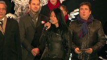 Anggun chante la Marseillaise pour l'illumination du sapin - Strasbourg, capitale de Noël 2015