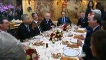 Hollande, Obama et douze convives dînent à L'Ambroisie, dans le quartier du Marais