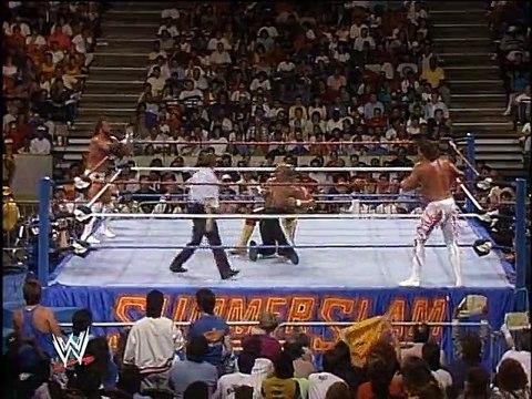 WWF SummerSlam 1989 - Hulk Hogan & Brutus Beefcake Vs. Randy Savage & Zeus