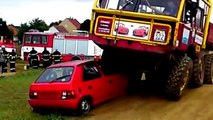 The amazing new crushes around the world, truck crush car, tank rolls over a bomb compilat