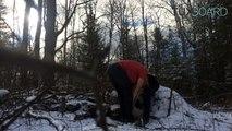 Deux frères sauvent un aigle pris dans un piège (Canada)