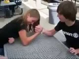 Mixed armwrestling 2015 ► Girl vs  Boy Arm Wrestling 2 Girls Arm Wrestling   pro wrestling