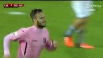 Palermo-Alessandria 2-3 gol Alberto Gilardino (02-12-2015) Coppa Italia 2015-2016