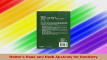 Netters Head and Neck Anatomy for Dentistry PDF
