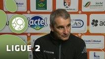 Conférence de presse Stade Lavallois - Stade Brestois 29 (2-0) : Denis ZANKO (LAVAL) - Alex  DUPONT (BREST) - 2015/2016