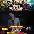 Frank Reyes se une al party para darle la bienvenida a DJ Lobo a la X.96.3 en el Lobo's Welcome to La X Party